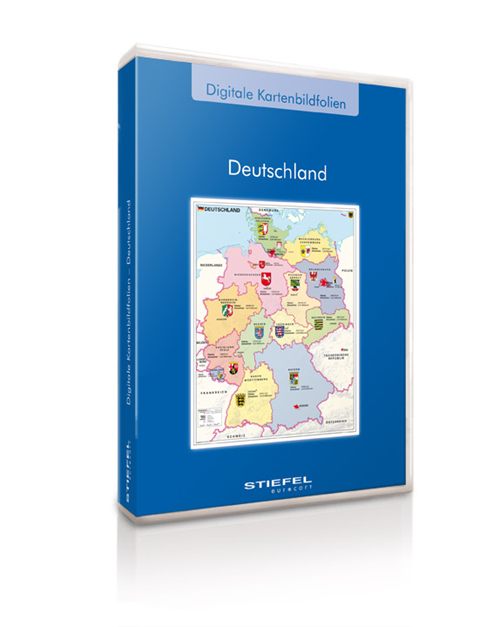 digital map pictures of Germany for presentation and orientation